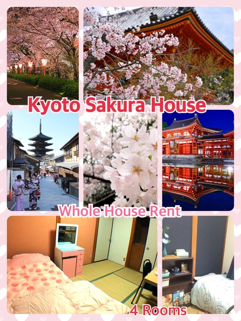 Kyoto Sakura - 4 Tatami Rooms- Whole house rent photo